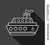 transportation ferry flat icon... | Shutterstock .eps vector #277103948