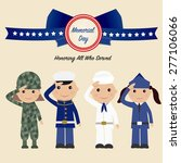 children in soldier uniform... | Shutterstock .eps vector #277106066