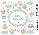 baby shower invitation | Shutterstock .eps vector #277107548
