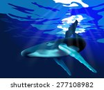 whale vector   Shutterstock .eps vector #277108982