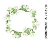 vector apple tree flowers... | Shutterstock .eps vector #277115948