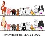 farm animals in a row  front... | Shutterstock .eps vector #277116902