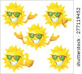 Sun Cartoon Character With...