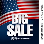 big sale with american flag | Shutterstock .eps vector #277131908