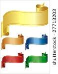 vector ribbons over white in... | Shutterstock .eps vector #27713203