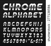 chrome alphabet vector font.... | Shutterstock .eps vector #277138586