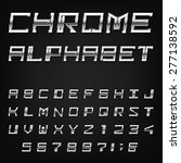 chrome alphabet vector font.... | Shutterstock .eps vector #277138592