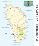 dominica road map with flag | Shutterstock .eps vector #277139768