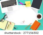 modern creative office desktop... | Shutterstock .eps vector #277156502