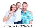 caucasian happy young family...   Shutterstock . vector #277160612