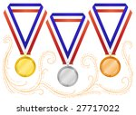 medals 6  isolated on white  | Shutterstock .eps vector #27717022