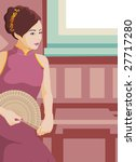 the eastern woman. | Shutterstock .eps vector #27717280