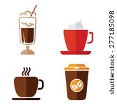 coffee vector icons | Shutterstock .eps vector #277185098
