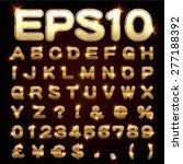 vector set of metallic letters... | Shutterstock .eps vector #277188392