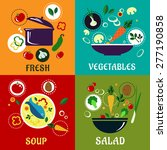 healthy eating concept with... | Shutterstock .eps vector #277190858