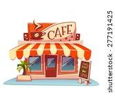 vector illustration of cafe... | Shutterstock .eps vector #277191425