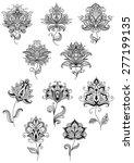 vintage floral paisley elements ... | Shutterstock .eps vector #277199135