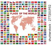 flags of the world and  map on... | Shutterstock . vector #277201952