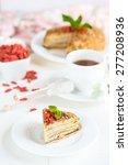 dietary napoleon cake with goji ...   Shutterstock . vector #277208936