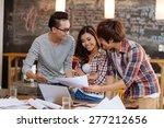 team of young designers... | Shutterstock . vector #277212656