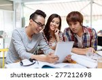 students watching something... | Shutterstock . vector #277212698