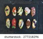 mini sandwich set. variety of... | Shutterstock . vector #277218296