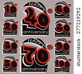 anniversary sign collection and ... | Shutterstock .eps vector #277219292