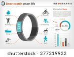 smart watch with smart life in... | Shutterstock .eps vector #277219922