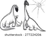 dinosaur family dad mom and... | Shutterstock . vector #277224206