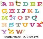 girly alphabet vector set  | Shutterstock .eps vector #277226195
