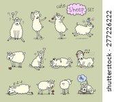 cute sheep set | Shutterstock .eps vector #277226222