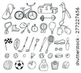 Hand Drawn Sport Icon Set....