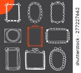 collection of hand drawn frames.... | Shutterstock .eps vector #277227662