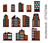 colorful building icons set.... | Shutterstock .eps vector #277227686