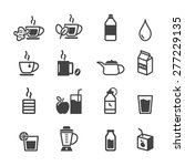 healthy drink icons  mono...   Shutterstock .eps vector #277229135