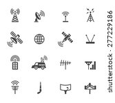 Antenna And Satellite Icons ...