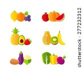 healthy diet design elements... | Shutterstock .eps vector #277232312