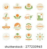 summer holidays design elements ... | Shutterstock .eps vector #277233965