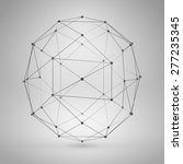 3d sphere with lines and dots.... | Shutterstock .eps vector #277235345