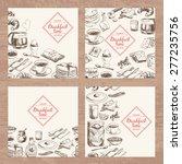 vector hand drawn breakfast and ... | Shutterstock .eps vector #277235756
