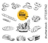 vector set of bread and bakery... | Shutterstock .eps vector #277235762