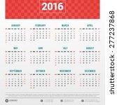 calendar 2016 vector design... | Shutterstock .eps vector #277237868