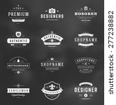 retro vintage logotypes or... | Shutterstock .eps vector #277238882