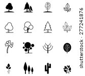 set of tree icons in different... | Shutterstock .eps vector #277241876