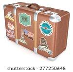 Vintage Suitcase. Leather...