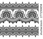mehndi  indian henna tattoo... | Shutterstock .eps vector #277250858
