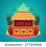 tiki bar. summer card   poster  ... | Shutterstock .eps vector #277254968