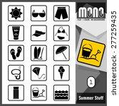 mono icons   summer stuff 1.... | Shutterstock .eps vector #277259435