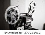 vintage 8mm projector spools in ... | Shutterstock . vector #277261412
