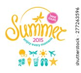 colorful lettering summer and... | Shutterstock . vector #277263596